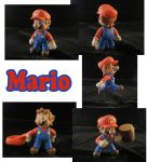 Mario Sculpture: Collage by ClayPita