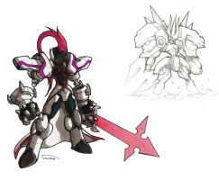 Omega Drawing by Tomycase