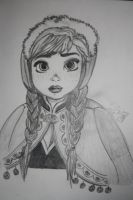 Traditional Art: Anna from Frozen by FortuRaider