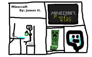 Minecraft  By: James H. by TherealPeaches