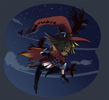 Mini scarecrow by pink-ninja