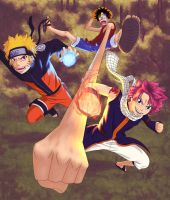 Shonen Big Three Final by DiscOhBot