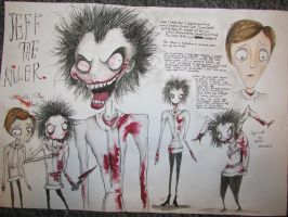 Tim Burton Isp. Jeff The Killer - Finished (CW) by kathXD123