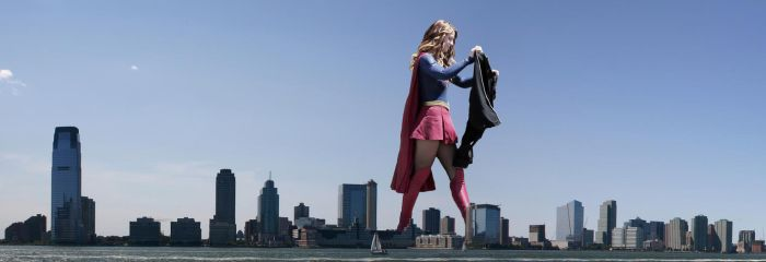 Giantess Melissa Benoist 2 by pedro1232