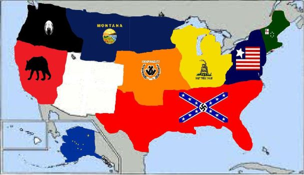 The Divided States of America by Mr-Wolfman-Thomas