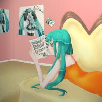 Miku Hatsune: Vogue by One-Sided-Pancake