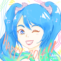 Happy 2014, Summoner! - said Sona telepathically. by Adample