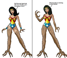 Wonder Woman Tree monster tf 3 by Alonbok77