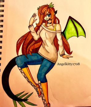 Experimenting with markers  by AngelKitty1708
