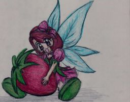 Hannah the Strawberry Fairy by alisiadragoon