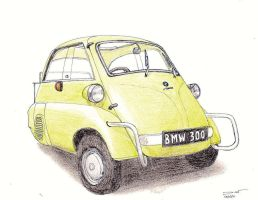 1128 - 1957 BMW Isetta 300 by TwistedMethodDan