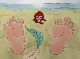 Mermaid In The Sand (By Murati2882) by SonicTemperance