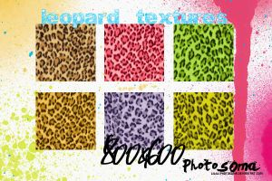 Leopard textures by photosoma