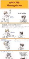 Aph X PM : Meeting the Sun by chibiclem