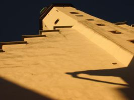 Tallin - Old City building -yellow wall by ddmkro