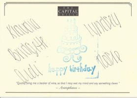 A signed and stamped HAPPY BIRTHDAY card by dth1971