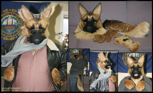 German Shepherdman Partial by Katmomma