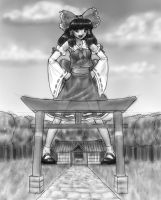Reimu's shrine by AlloyRabbit