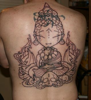 Back Piece - Lines by statichavoc