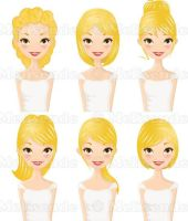 Hairstyles Set by Melisendevector