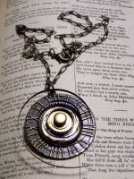 Gear Swirl Necklace by LeviathanSteamworks
