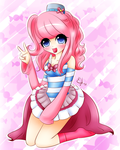 Chibi Gijinka Pinkie Pie and Video by Exceru-Hensggott