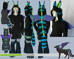 Toxicated Original Character Hoodie by lemonbrat