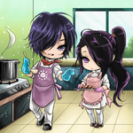 Love in the kitchen by shrimpHEBY