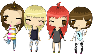 2ne1 chibis by unicown