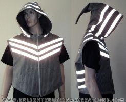 Reflective-Cyber-Doublet-Elf-Hoodie by RedheadThePirate
