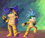 Reverse Koopaling: Ludwig and Larry by lucario-sensei