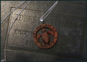 Milo Wood Discworld Pendant: The Turtle Moves by xofox