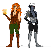Aphyriel and Bast by HellLemur