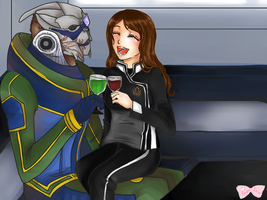 Reby + Garrus-Commission by Tsukahime