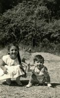 My sister and I - August 1962 by EugeneTheCounter