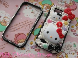 Hello Kitty Decoden Phone Case by Frainy
