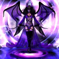 119 purple demoness by rainbowtattoo
