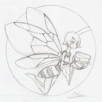 Bee Sketch by MrVava63