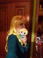 Toon Zelda- Wig test! by crocheter