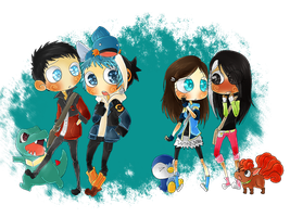Comission - PokeGroup by Hep-Hap