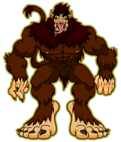 Werewolf Bigfoot by CatchShiro