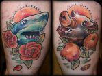 Shark and Boar by Tibor Galiger @ Dublin Ink by DublinInk