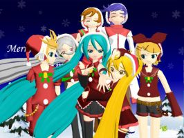 MMD Vocaloid Christmas ***REUPLOAD*** by Invader-Alexis2