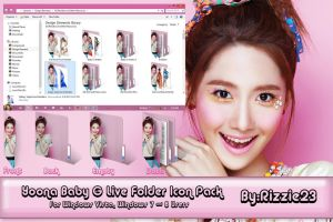 Yoona Baby G Live Folder Icon Pack by Rizzie23