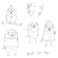 Alternate Jake the Dog Costumes by superskeetospro