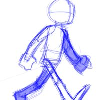 Rough Walking animation by LittleFrost