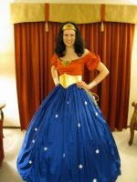Wonder Woman Civil War Ball Gown by CRogoski