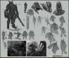 Dominance War 4 sketches by bradwright