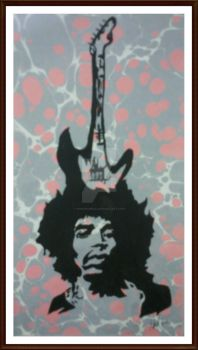 Jimi Hendrix by monkeydelic