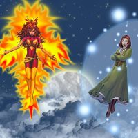 jean grey and willow rosenberg by dranixgod